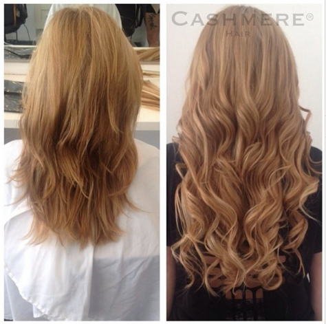 Before & After Cashmere Hair Extensions