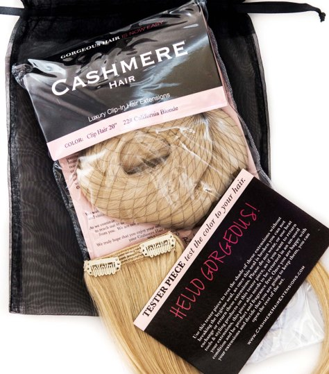 cashmere hair clip in extensions