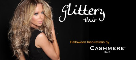glitter-halloween-hair cashmere hair clip in extensions