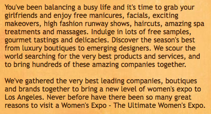 CASHMERE HAIR LOS ANGELES ULTIMATE WOMEN'S EXPO