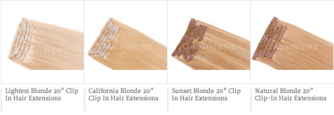 cashmere hair clip in extensions shades